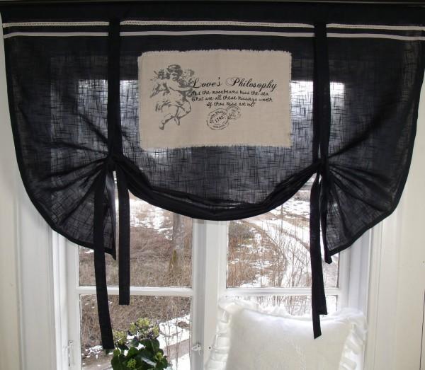 Rollos Schwarz raff gardine engel rollo schwarz 100x90 cm raffgardinen rollos