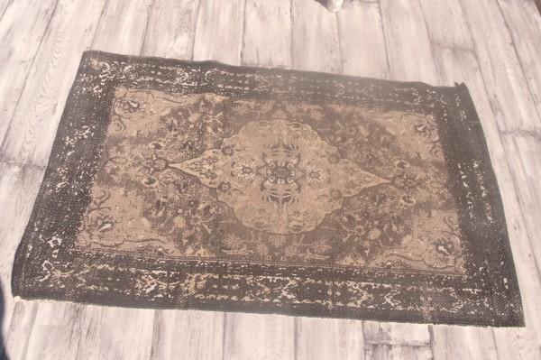 Teppich Läufer BLACKY schwarz grau sand Webteppich in 2 Größen