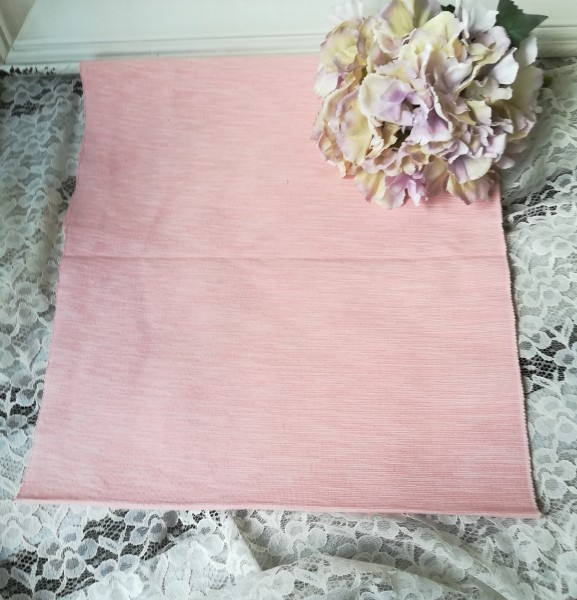 Tischläufer LILIA rosa ca. 40 cm x 140 cm Landhaus Baumwolle