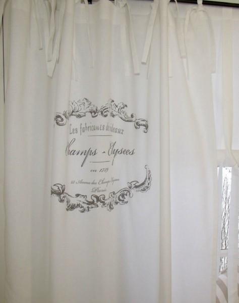 WEIß Vorhang ELEGANCE Schlaufen Gardine 120x240 cm 2 Stück Bandaufhängung Landhaus Shabby Vintage