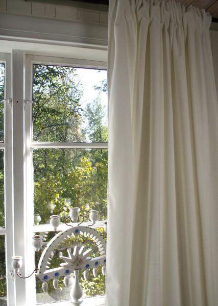 Vorhang GABRIELLA Samt Weiß-Offwhite 140x280 cm 2 Stück Polyester blickdicht