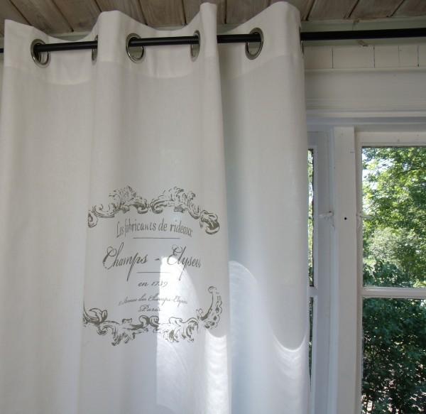 Vorhang ELEGANCE WEISS ÖSEN Gardine 120x240 cm 2 Stück