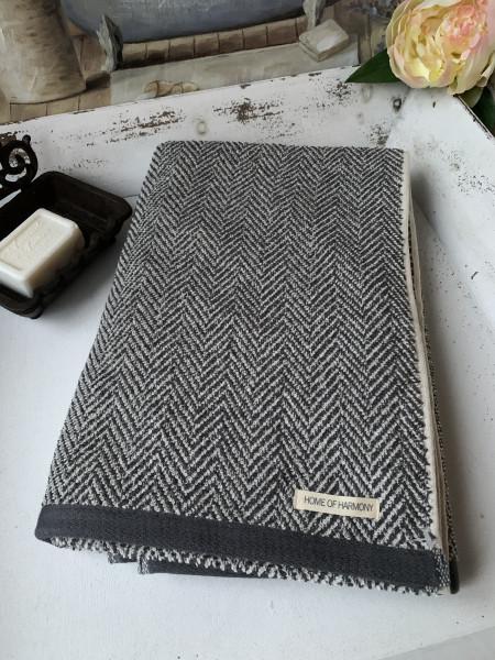 Bade Dusch Handtuch ELLA Grau 70x140 cm Frottee Handtuch Baumwolle