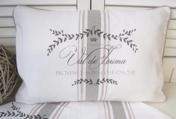 Kissenbezug Maje Rosa Weiß Rosa 40x60 Cm Baumwolle