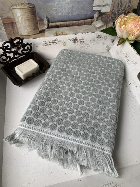 Handtuch PEGGY Hell Grün 50x70 cm Frottee Handtuch Fransen