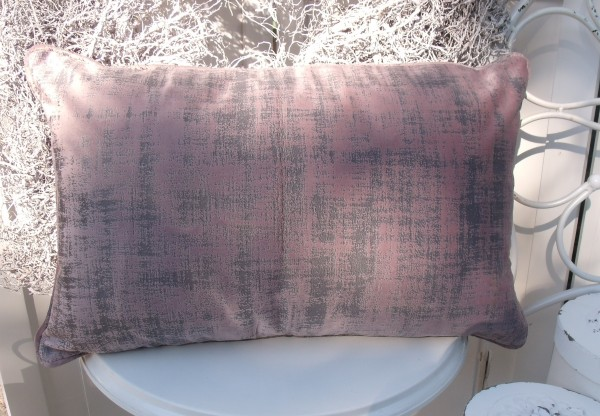 Samt Kissen Bezug Hülle CHARME 30x50 cm ROSA Glanz Schimmer Polyester