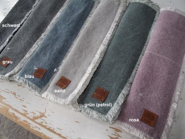 Tischset Platzset YOU 2 Stück 33x45 cm cm diverse Farben Used-Look Loft Shabby
