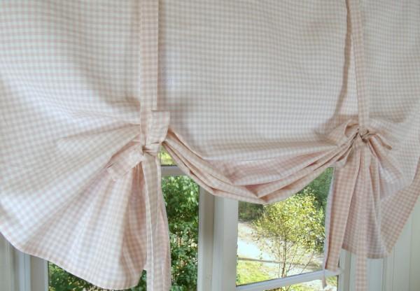 raff gardine carla rosa rollo 140x110 cm vichy karo raffgardinen rollos gardinen lillabelle. Black Bedroom Furniture Sets. Home Design Ideas
