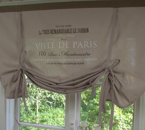 B Ware VILLE de PARIS SCHOKO braun Rollo 100 x 100 cm Landhaus