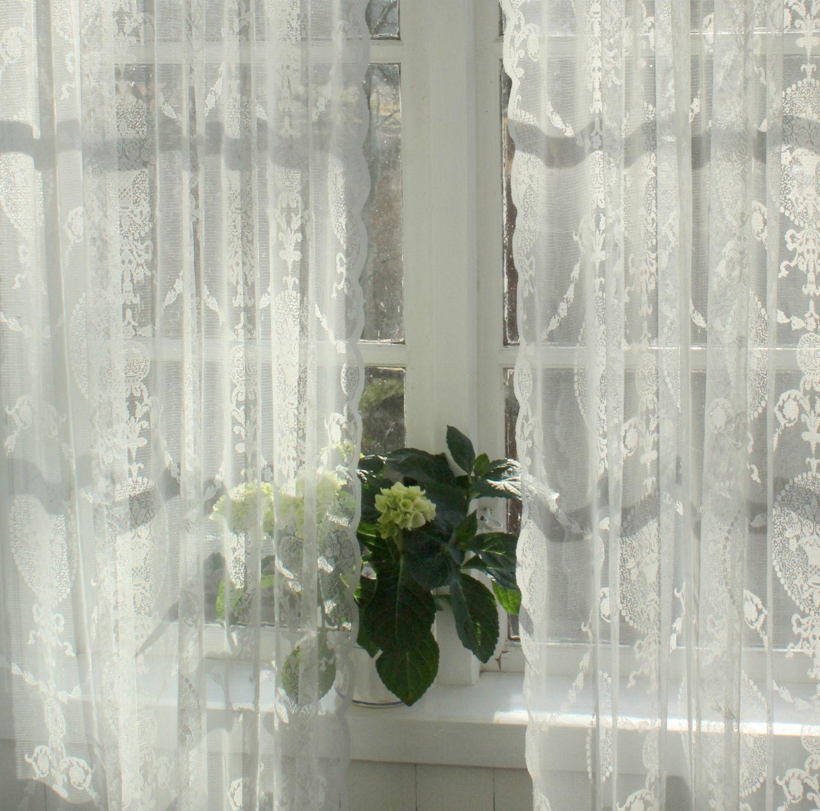 vorhang avery offwhite 300 spitzen gardine 140x300 cm 2 st ck gardinen vorh nge gardinen. Black Bedroom Furniture Sets. Home Design Ideas