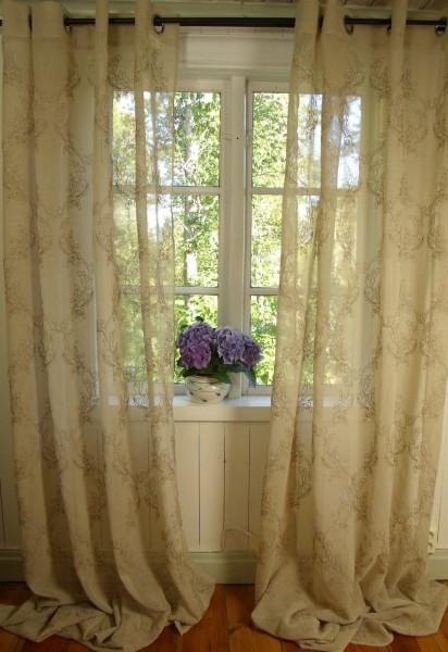 Vorhang MILA Sand Gardine 135x240 cm 2 Stück | Gardinen & Vorhänge