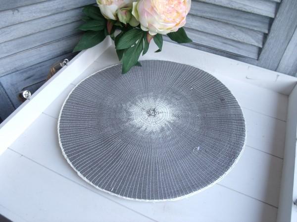 Tischset Platzset PAPER taupe grau 2 Stück 38cm Deckchen