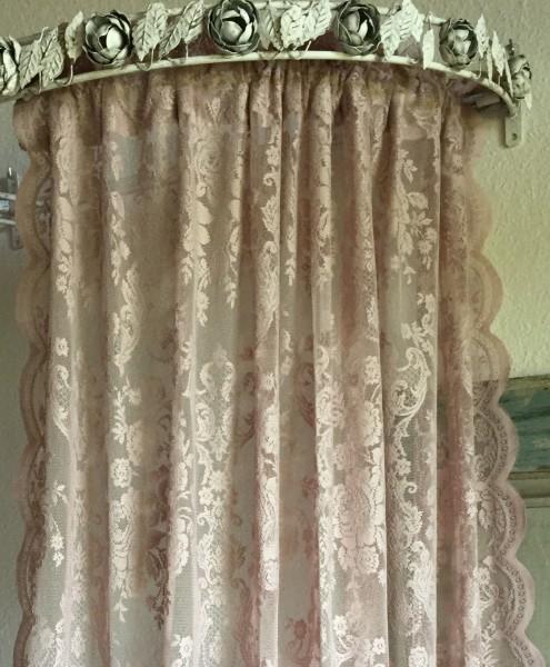 Vorhang LUCIA ALTROSA Spitzen Gardine Rosen 120x240 cm 2 Stück