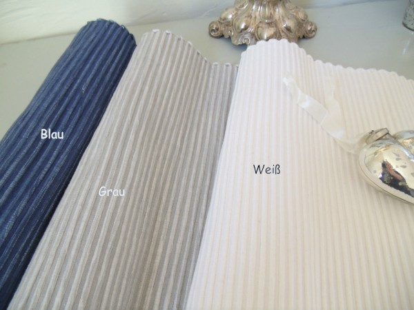 Tischläufer ANNA diverse Farben 33x120 Shabby Chic Landhausstil Shabby Chic NEU Weiß
