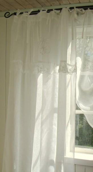 OFFWHITE Vorhang MARIELLA Leinen Gardinen 1 Schal B x H 120x240 cm Shabby Vintage