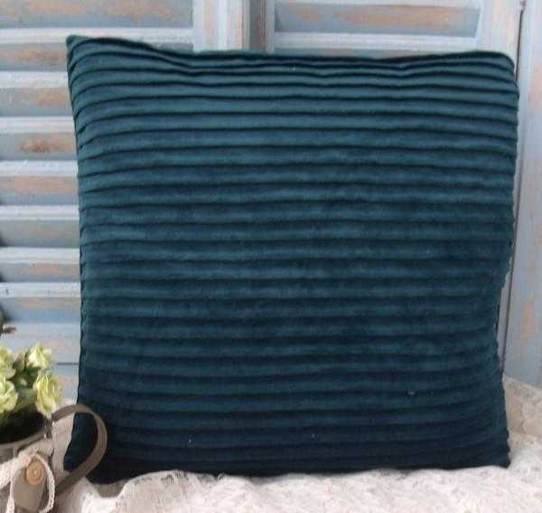 Kissenbezug EMMA Samt PETROL 45x45 cm Polyester