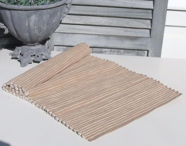 Tischläufer ANNA Leinen/ Sand 33x120 cm