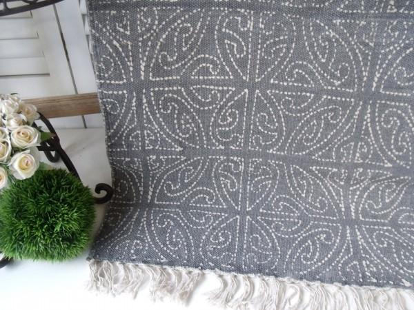 Teppich Läufer CELTIC Grau Creme Webteppich in 2 Größen