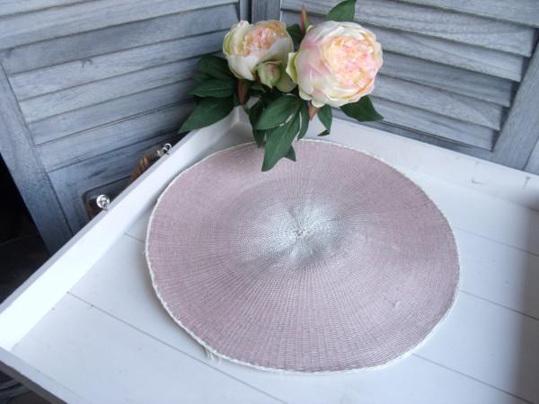 Tischset Platzset PAPER mauve altrosa 2 Stück 38cm Deckchen