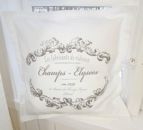 Kissenbezug ELEGANCE weiß Shabby Vintage 45x45 cm