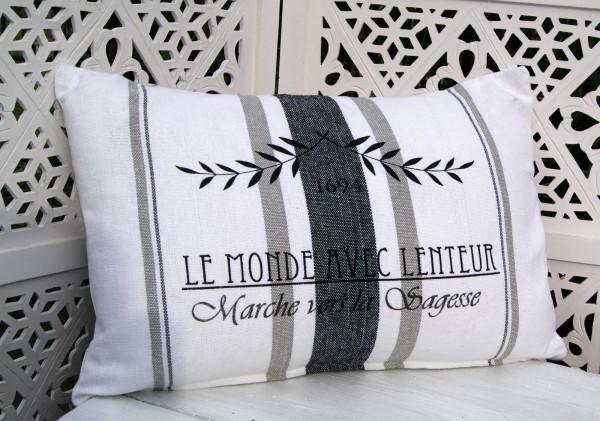 kissenbezug louanne wei grau 40x60 cm kissenbez ge kissen lillabelle. Black Bedroom Furniture Sets. Home Design Ideas