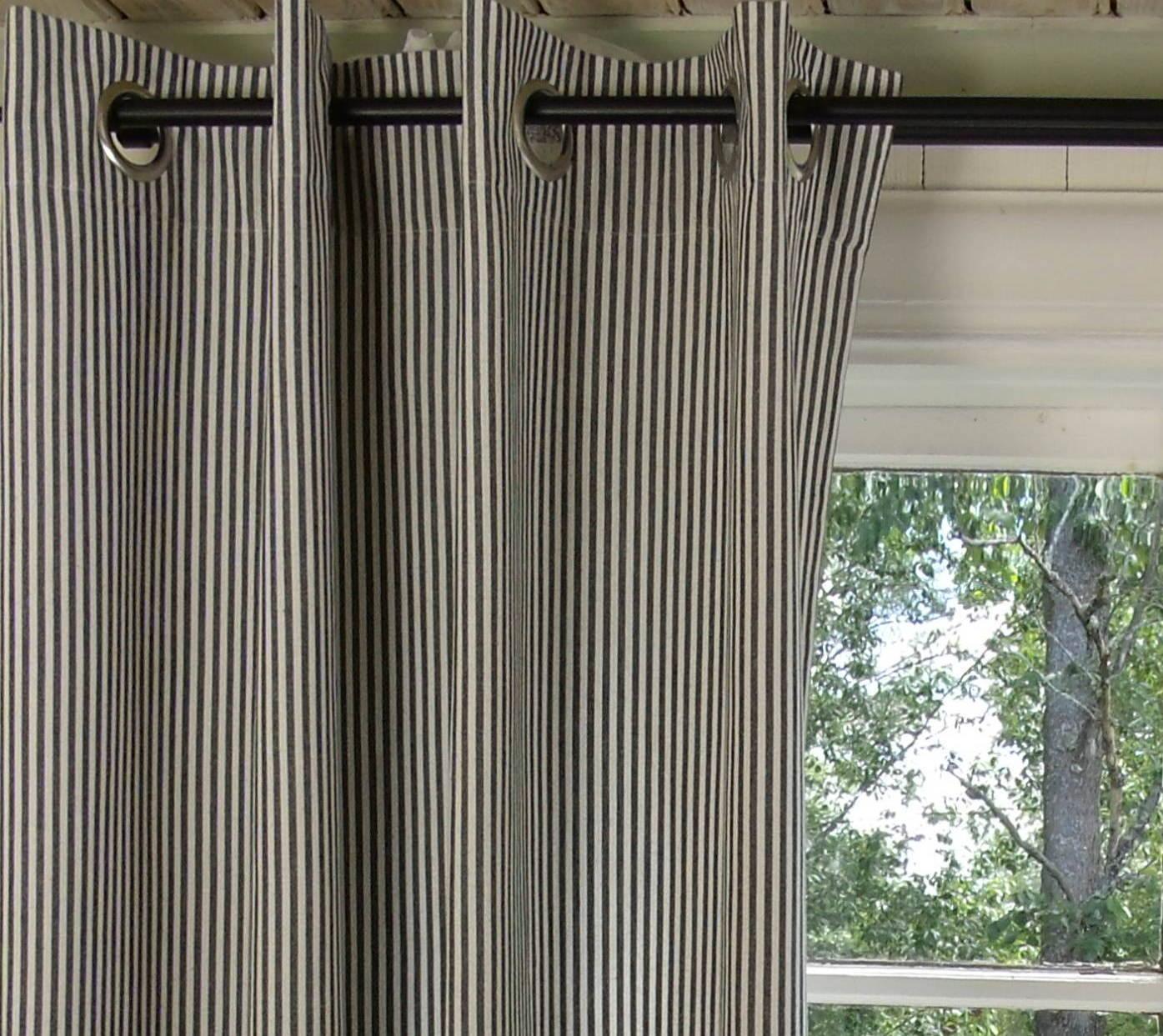 vorhang pamela schwarz gestreift 120x240 cm 2 st ck senschals gardinen vorh nge gardinen. Black Bedroom Furniture Sets. Home Design Ideas