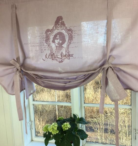 raff gardine antique altrosa rollo 140x120 cm raffgardinen rollos gardinen lillabelle. Black Bedroom Furniture Sets. Home Design Ideas