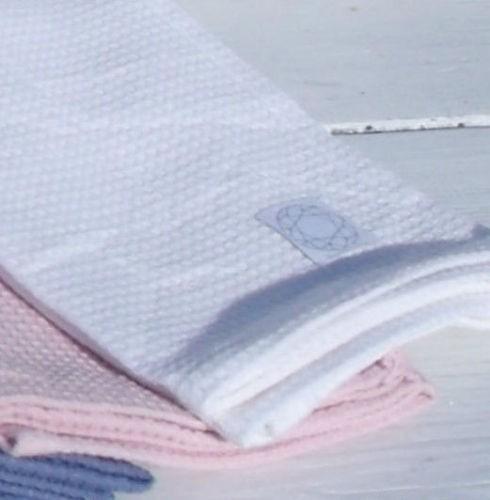 Geschirrtuch VANESSA Trockentuch Handtuch Weiß Schwarz Rosa Blau Grau 50x70 Waffelpique