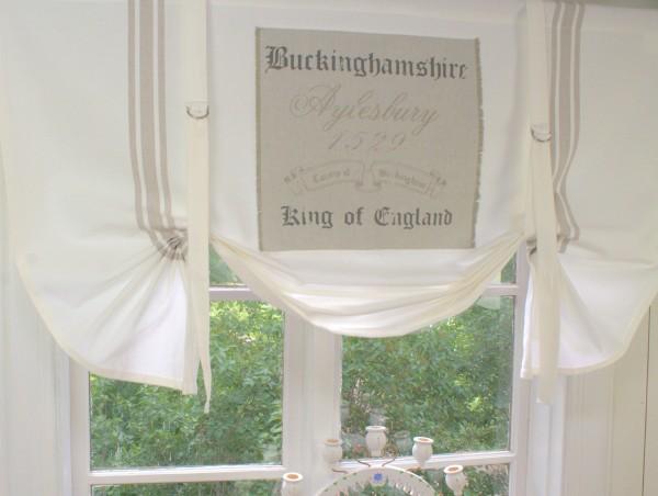 Raffgardine KING Creme 120 oder 140 cm breit Landhaus Vintage