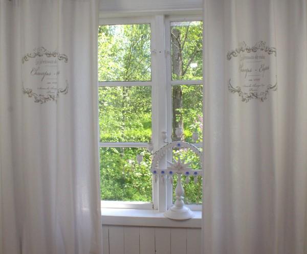 Vorhang ELEGANCE HELL GRAU Schleifen Gardine 120x240 cm 2 Stück